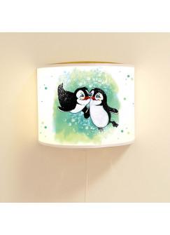 Wandlampe Kinderlampe Leseschlummerlampe Leselampe Schlummerlampe Wandlampe Pinguine Pinguin Pärchen Ls32