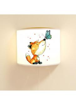 Leseschlummerlampe Kinderlampe Wandlampe Lampe mit Fuchs & Schmetterling ls81