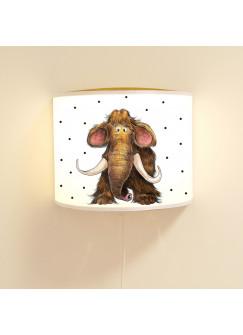 Kinderlampe Wandlampe kleines Mammut Pino Lampe Mammutlampe mit Punkte ls84