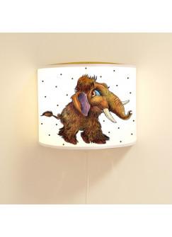 Kinderlampe Wandlampe kleines Mammut Ado Lampe Mammutlampe mit Punkte ls85