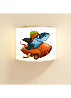 Kinderlampe Wandlampe Hai im Auto Lampe Haifischlampe mit Punkte ls87
