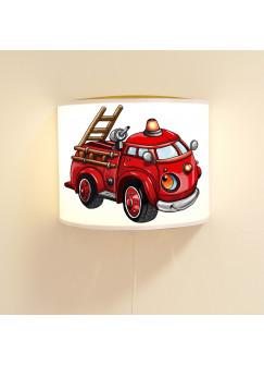 Kinderlampe Wandlampe Feuerwehrauto Lampe Feuerwehr Löschfahrzeug ls88