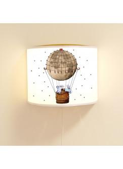 Kinderlampe Wandlampe Heißluftballon Lampe Motivlampe mit Punkte ls90