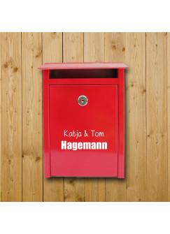 Briefkastenaufkleber Türaufkleber Vornamen und Familiennamen M1053