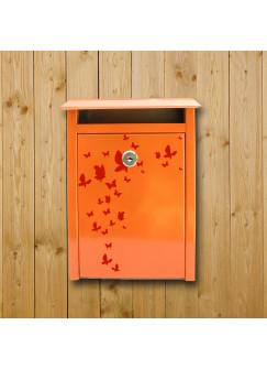 Briefkastenaufkleber Türaufkleber Schmetterlinge Schwarm M1067
