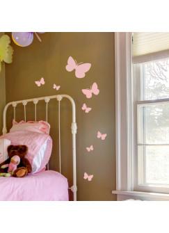 Wandtattoo Schmetterlinge Schmetterling Set 17 Stück M1466