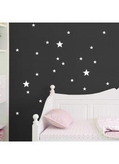 Wandtattoo Sterne Sternenset 21 Stück M1656