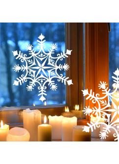 Fensterbild Fensterdeko Winter Schneekristall Schneeflocke M1717