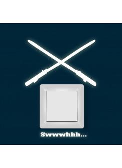 Lichtschaltertattoo Wandtattoo Lichtschwerter Laserschwerter Leuchtsticker fluoreszierend M1727
