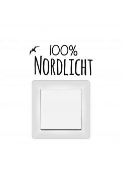Lichtschaltertattoo Wandtattoo 100% Nordlicht mit Möwe M1945