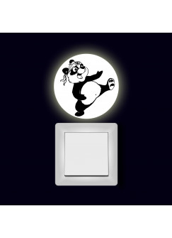 Lichtschaltertattoo Wandtattoo Aufkleber Kung Fu Panda fluoreszierend M2006
