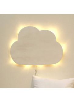 Wandlampe Kinderlampe Wolke Schlummerlampe in weiß M2033