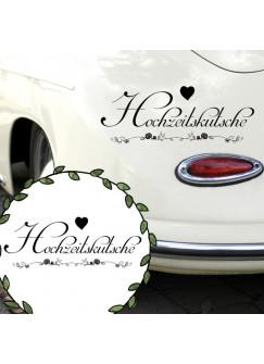 Autoaufkleber Autotattoo Hochzeit Spruch Motto Hochzeitskutsche Hochzeitstag M2146