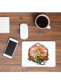 Mousepad Mouse Pad Mausunterlage Meerjungfrau mit Muscheln und Punkten mp25