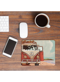 Mousepad Kinder Surfbus am Strand Mouse Pad Mausunterlage Bus am Meer mp35