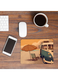 Mousepad Kinder Surfbus am Meer Mouse Pad Mausunterlage Bus am Strand mp36