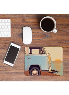 Mousepad Kinder Surfbus am Meer Mouse Pad Mausunterlage Bus am Strand mp37