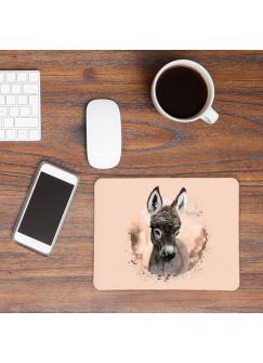 Mousepad mouse pad Mauspad mit süßen Esel Mausunterlage bedruckt für den Schreibtisch mouse pads Tier m66