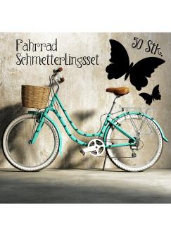 Fahrradaufkleber Schmetterlinge Set 50 Stück M811