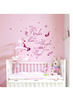 Wandtattoo Kinderzimmer mit Spruch Zitat solange Kinder klein sind... M2155