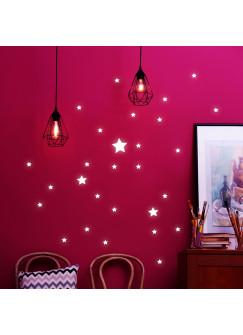 Wandtattoo Sterne fluoreszierend Leuchtsticker Set Leuchtsterne 36 Stück M2204