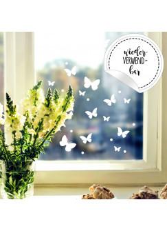 Fensterbild Schmetterlinge Set -WIEDERVERWENDBAR- Fensterdeko Fensterbilder Osterdeko M2349