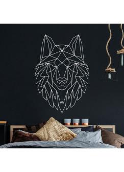 Wandtattoo geometrischer Wolf polygonaler Stil Wanddeko für Flur Schlafzimmer oder Wohnzimmer M2430