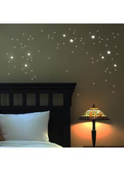 Wandtattoo Leuchtsterne leuchtende Sterne Punkte fluoreszierend 69 Teile M1168