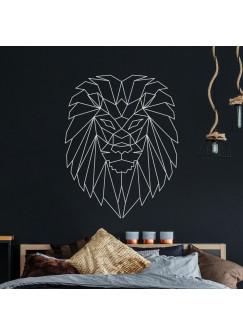 Wandtattoo geometrischer Löwe polygonaler Stil Wanddeko Flur Schlafzimmer oder Wohnzimmer M2431