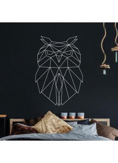 Wandtattoo geometrische Eule polygonaler Stil Wanddeko Flur Schlafzimmer Wohnzimmer M2432