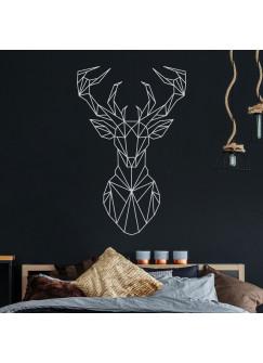 Wandtattoo geometrischer Hirsch polygonaler Stil Wanddeko Flur Schlafzimmer Wohnzimmer M2433