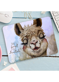 Mousepad mouse pad Mauspad Lama Alpaka Spruch Don´t forget to Knutsch Mausunterlage bedruckt mouse pads mp105