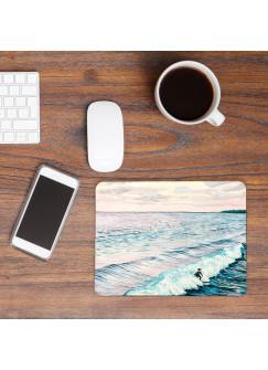 Mousepad mouse pad Mauspad mit Surferin Wellen Wasser Meer Mausunterlage bedruckt für den Schreibtisch mouse pads mp41