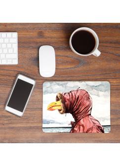 Mousepad mouse pad Mauspad Möwe mit Kapuze am Meer Mausunterlage bedruckt für den Schreibtisch mouse pads Tier mp44