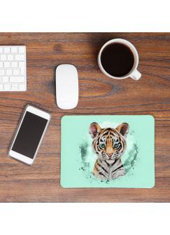 Mousepad mouse pad Mauspad mit süßen Tiger Mausunterlage bedruckt für den Schreibtisch mouse pads Tier mp65