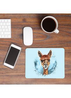 Mousepad mouse pad Mauspad mit süßen Alpaka Mausunterlage bedruckt für den Schreibtisch mouse pads Tier mp67