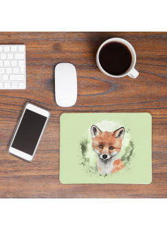 Mousepad mouse pad Mauspad mit süßen Fuchs Mausunterlage bedruckt für den Schreibtisch mouse pads Tier mp69