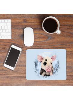 Mousepad mouse pad Mauspad mit süßen Schweinchen Schwein Mausunterlage bedruckt für den Schreibtisch mouse pads Tier mp71