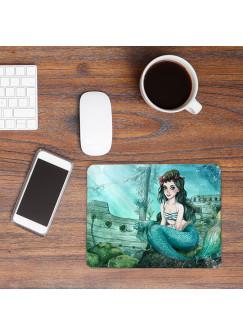 Mousepad mouse pad Mauspad mit Meerjungfrau versunkenes Schiff Mausunterlage bedruckt mouse pads mp81
