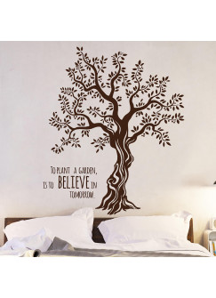 Wandtattoo Wandaufkleber Baum Olivenbaum mit Spruch M1567