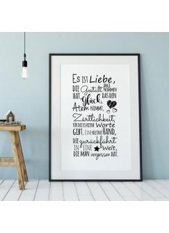 A3 Print Geburt Illustration Poster Plakat Druck mit Spruch Es ist Liebe... p83
