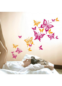 Wandtattoo Schmetterlinge Schmetterling bunt 2-farbig M552