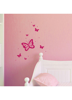 Wandtattoo Wandaufkleber wunderschöne Schmetterlinge M1522