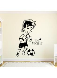 Wandtattoo Fussball Fussballspieler Neymar mit Wunschtext M1965