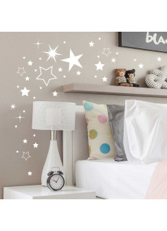 Wandtattoo Sternenset Sterne 180 Stück M2030