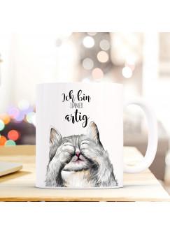 Tasse Katze mit Spruch Ich bin immer artig.. ts407
