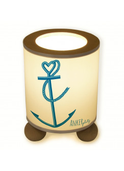 Tischlampe Anker mit Tau Ankerplatz maritim tl012