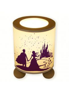 Tischlampe Prinz und Prinzessin vor Märchenschloss mit Sterne tl014