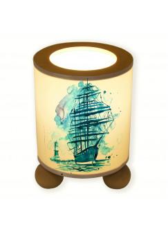 Tischlampe Segler Schiff mit Leuchtturm tl042