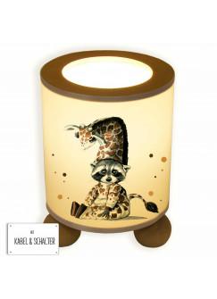 Tischlampe Waschbär im Giraffenkostüm tl048